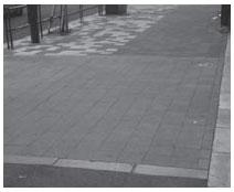 港区白金台の目黒通り 沿いの歩道
